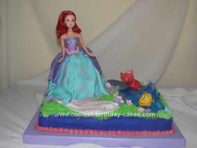 Princess Birthday Cakes On Coolest Ariel Cake Design 115