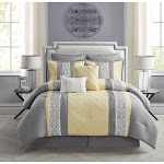 VCNY Home Comforter Set Yellow Eight-Piece Farion Comforter Set King