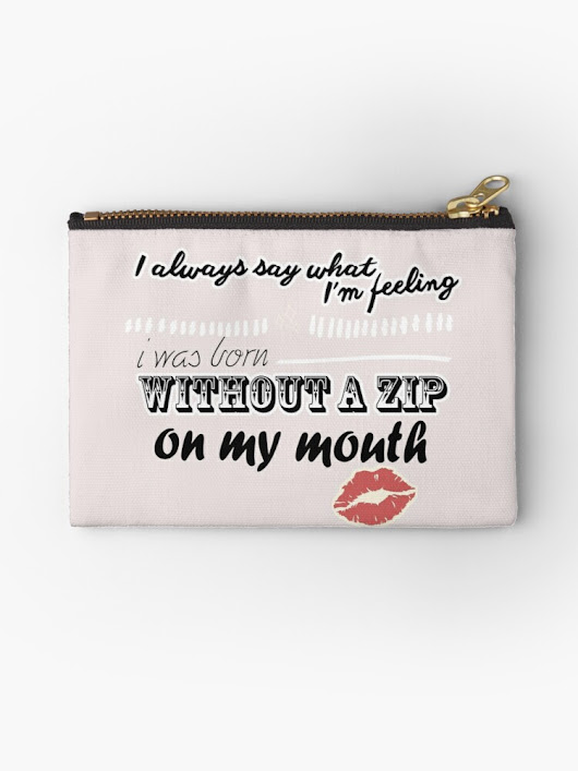 'say what I'm feeling ' Studio Pouch by MendesMay