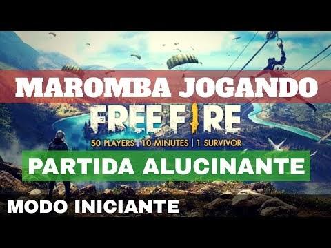 MAROMBA JOGANDO FREE FIRE Iniciante Modo Clássico uma partida cheia Emoção e Aventura