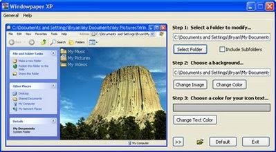 Personnalisez vos dossiers avec Windowpaper XP