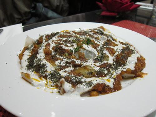 Afghan dumplings, with yoghurt, chickpeas and lamb