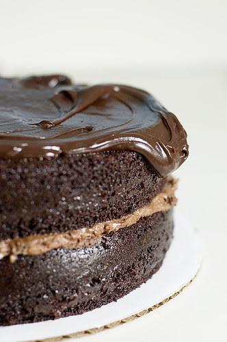 intense deep chocolate cake - ganache