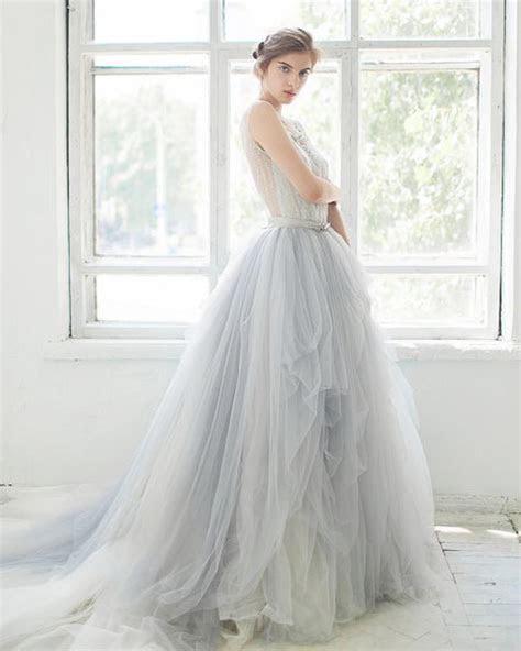 Discount Light Blue Wedding Gowns Sheer Scoop Neck