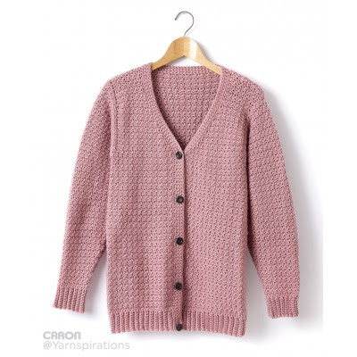 Adult Crochet V-Neck Cardigan