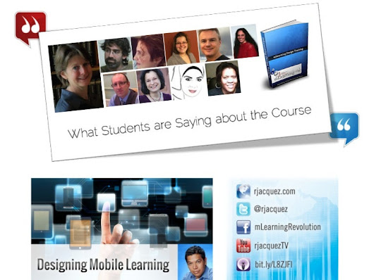 What Students Say about the mLearning Workshop by RJ Jacquez