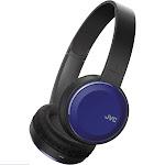 JVC Colorful Bluetooth Wireless Headphones - Blue (HAS190BTA)