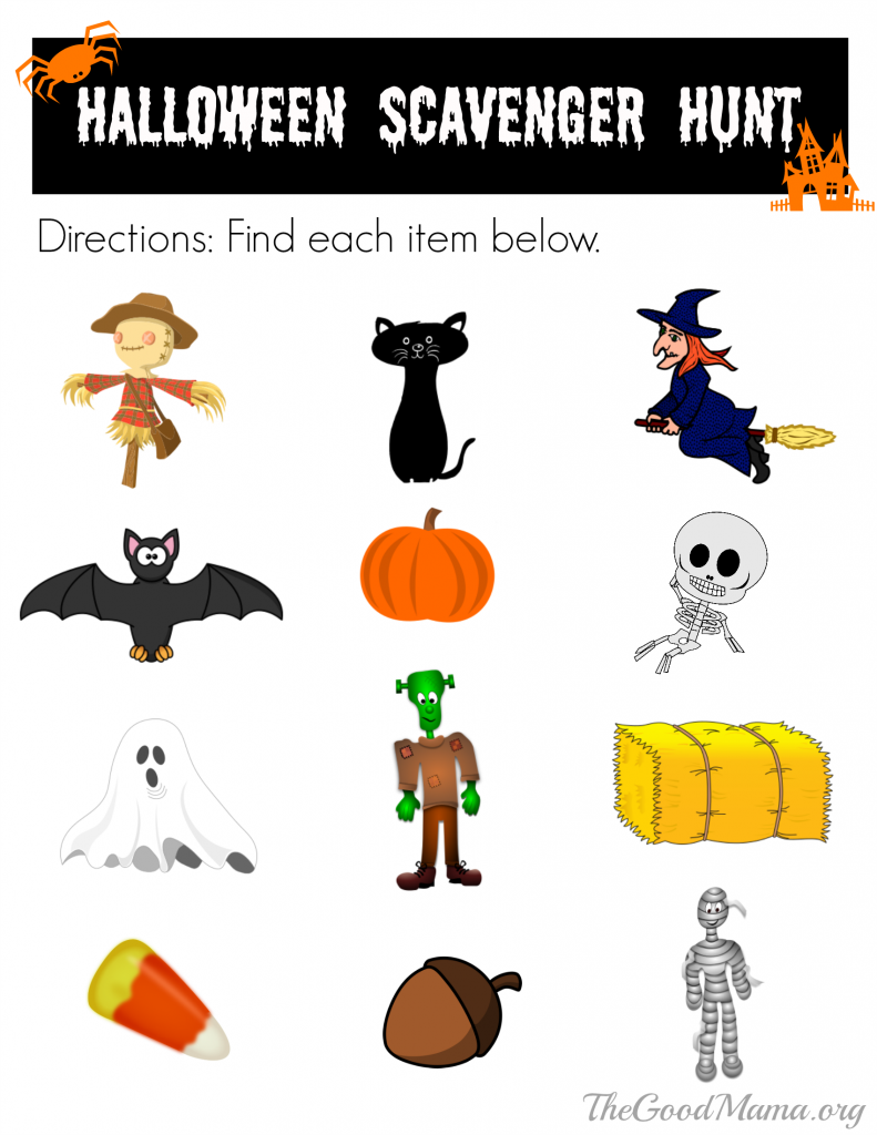 Free Printable Halloween Scavenger Hunt Happiness Is Homemade
