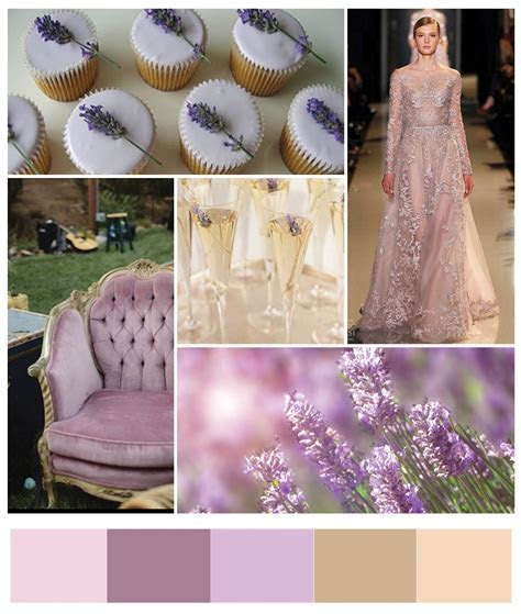 Lilac And Champagne Wedding Colors   Chic and Soothing