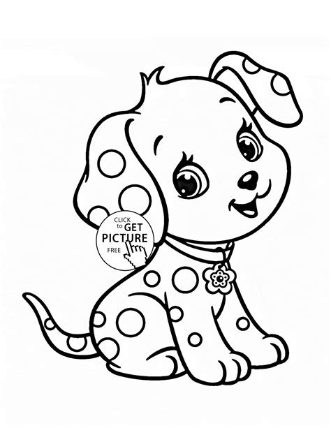 cartoon puppy coloring page  kids animal coloring