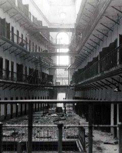 Interior de la cárcel Modelo de Madrid en 1937