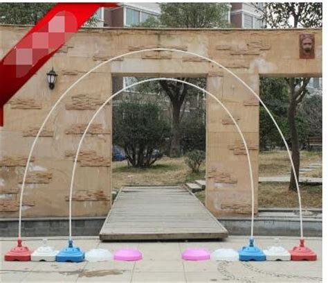PVC rod balloon arch shelf. The base ring clasp removable