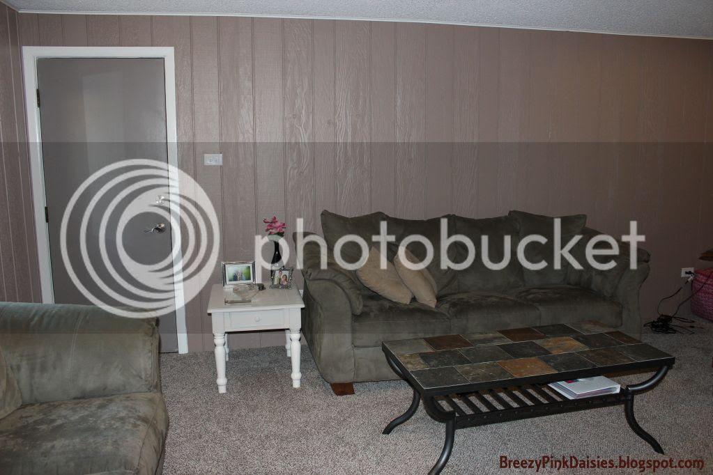 DIY Painted Wood Paneling - Living Room
