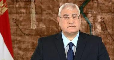 المستشار عدلي منصور رئيس الجمهورية
