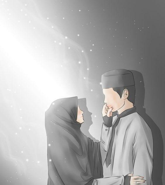 Gambar Kartun Muslimah Couple Romantis Az Chords