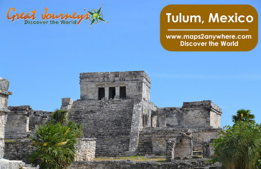 Off To Tulum With A Mexico Road Map | Maps2Anywhere
