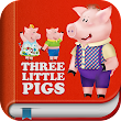 The Three Little Pigs and Big Bad Wolf – Interactive Bedtime Story Book for Kids & Fun Games Place