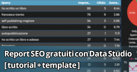 Report SEO gratuiti con Data Studio [ tutorial + template ]