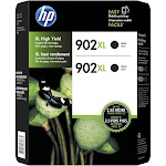 HP 902XL High Yield Black Original Ink Cartridges - 2 pack