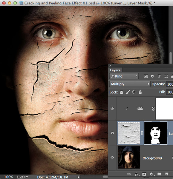 Cracking and Peeling Face Effect - Planet Photoshop