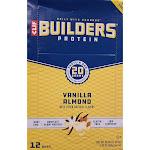 Clif Bars Builders Protein Bar - Vanilla Almond Vitamin   12 Bars