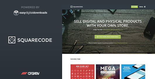 SquareCode Premium WordPress Theme