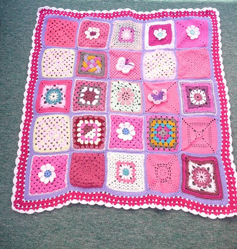 Thanks to everyone who contributed Squares for this blanket.