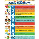 """Chart-The Ten Commandments (17"""" X 22"""")"""