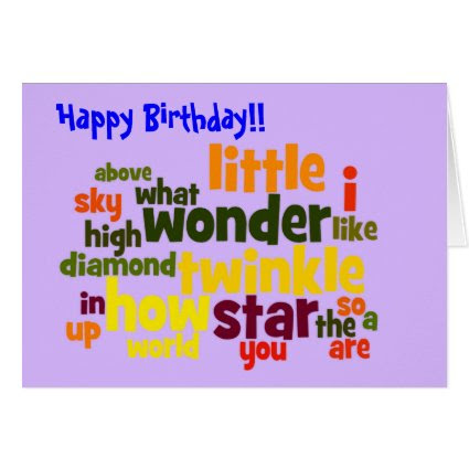 Twinkle, twinkle little star - birthday card