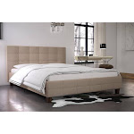 RealRooms Rima Upholstered Bed, Queen, Tan Linen