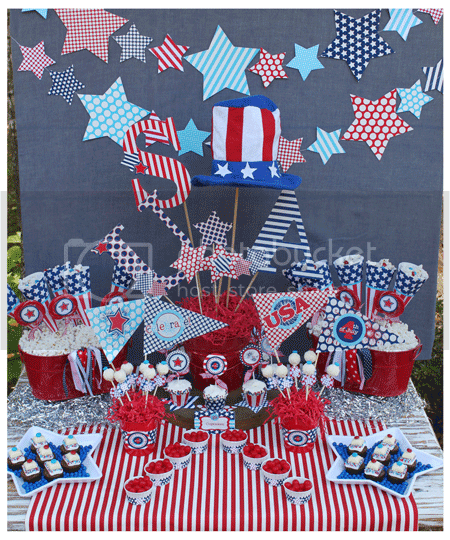 Amanda 39 s parties to go for Decoracion estados unidos
