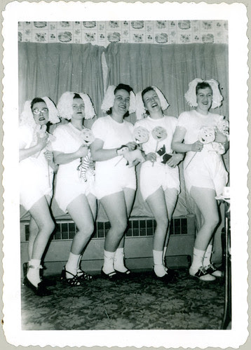 Costumed girls