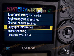 1D MarkIV C.FnIV Copyright Information