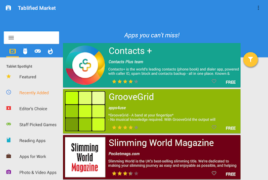 Tablified Market Gets A Material Makeover — Still The Best Way To Find Tablet-Optimized Apps