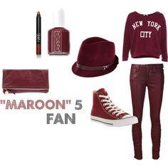 Last minute Halloween costume idea? Maroon 5 Fan by avagracescloset, via Polyvore
