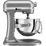 KitchenAid - KV25G0XSL Professional 500 5QT, 450 Watt Bowl Lift Stand Mixer - Silver