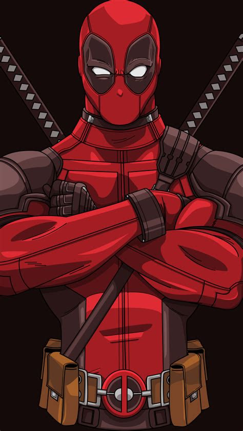 wallpaper deadpool artwork minimal   minimal