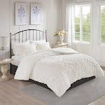 Madison Park Viola 3 Piece Tufted Cotton Chenille Damask Comforter Set - MP10-6015 King/Cal King