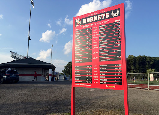 2 Popular Ways to Display Athletic Records Outside