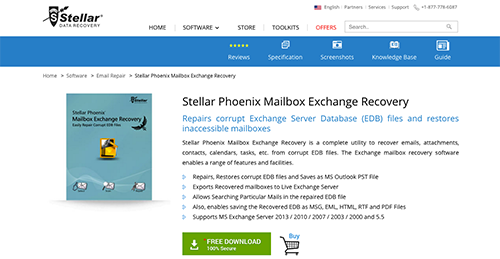 Stellar Phoenix Mailbox Exchange Recovery Reviews: Overview, Pricing and Features