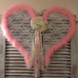 Angel wings door hanging baby girl wreath by PeggyJHaleDesigns