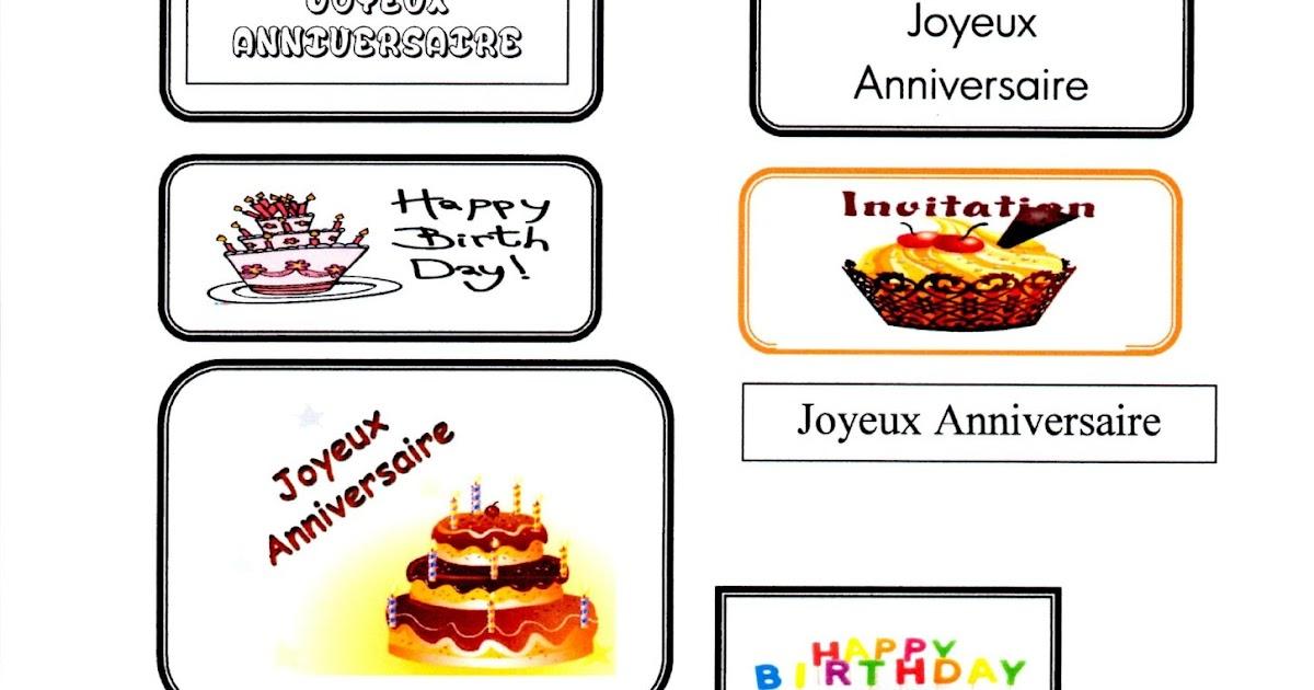 Etiquette Joyeux Anniversaire A Imprimer Gratuit