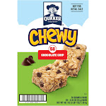 Quaker Chewy Bars Chocolate Chip - 58 Bars
