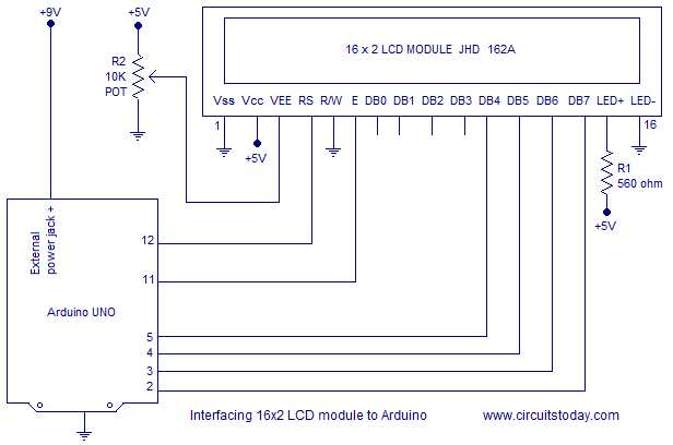 interfacing LCD and arduino