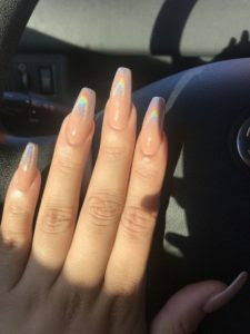 acrylic nails coffin white tip  different nail designs