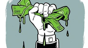 Crédito: Caio Gomez/CB/D.A Press. Mão segura notas de dinheiro molhadas.