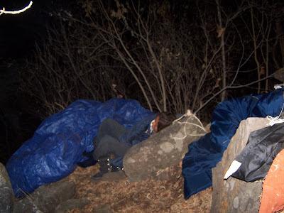Durmiendo en Cerro Viejo - Cara Noreste