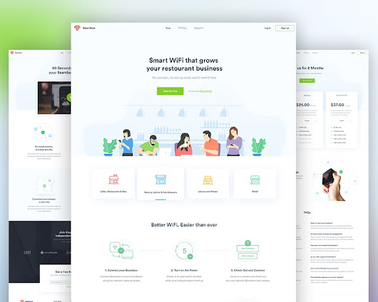 Minimalist Business Website Templates PSD Download - Download PSD