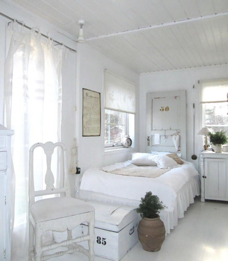 Landhausstil Schlafzimmer in Weiß - 50 Gestaltungsideen