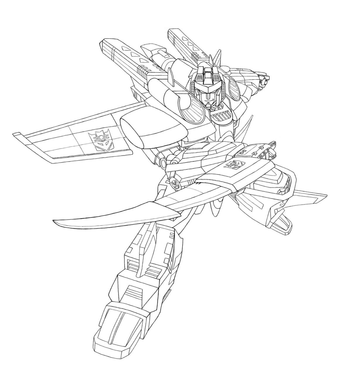 coloriage transformers armada